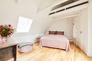 Bedroom consists of 1 double bed and 1 hems above the bed